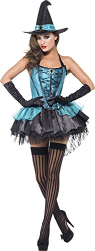Divine Halloween Costume (Smiffy's Women's Witch Divine Costume, Corset, Skirt and Hat, Legends of Evil, Halloween, Size 6-8, 41109)
