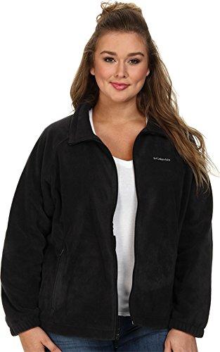 Fleece Plus Size Coat - Columbia Women's Plus-Size Benton Springs Full Zip Plus, Black, 2X