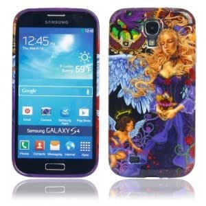 TPU Glitter Protective Case with Angel Pattern for Samsung S4 i9500
