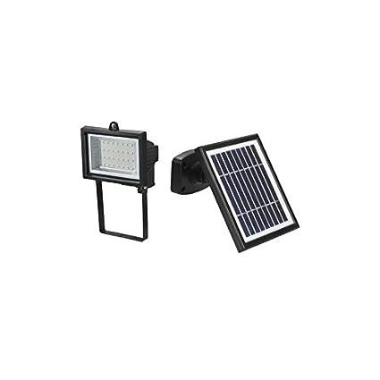 PuntoEnergia Italia - Proyector del LED 130 lúmenes Energía Solar Fotovoltaica Panel jardín - SE-