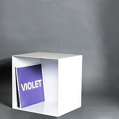 Estante de acero | 4 mm | Blanco | Estante para vinilos | Diseño ...