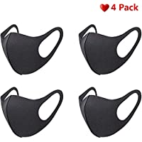 Bestmaple Unisex Face Mask Dust Mask Anti Pollution Mask Reusable Mouth Masks for Cycling Camping Travel black 4 pcs