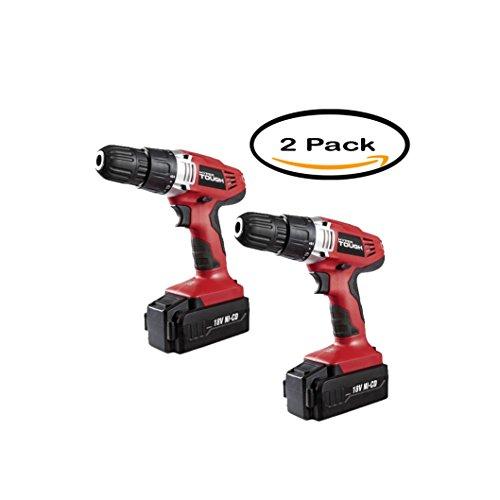 PACK OF 2 – Hyper Tough 18-Volt Ni-Cad Cordless Drill