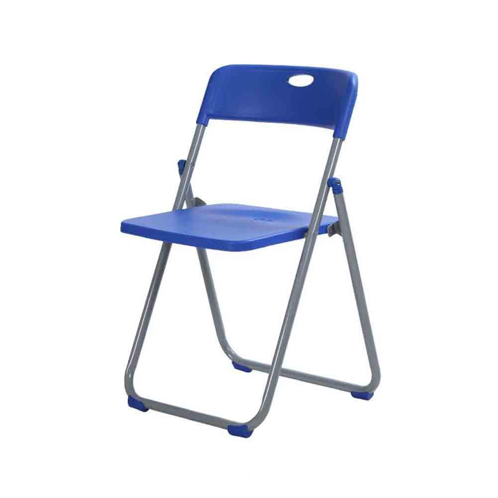 bluee QIQI-LIFE Folding Chair,Simple Modern Home Plastic Chair Leisure Meeting (color   bluee)