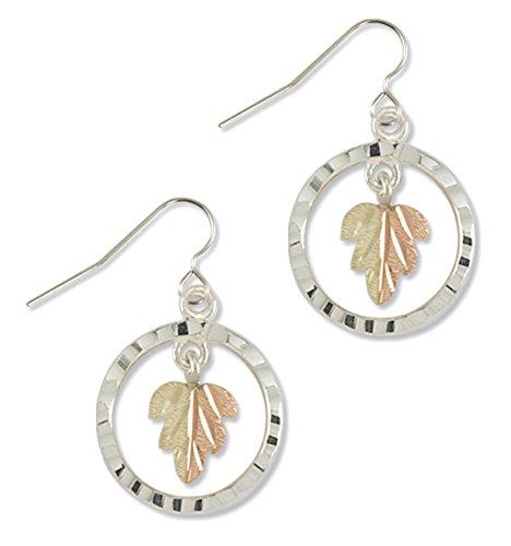 Silver Black Hills Gold Dangle Earrings