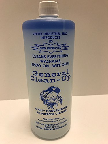 General Clean-up All Purpose Cleaner Will Tackle Your Dirtiest, Smelliest, Most Frustrating Cleaning Jobs Vertex Industries 32oz