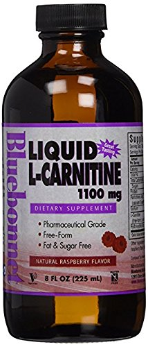 Bluebonnet Liquid L Carnitine 1100 mg, Raspberry, 8 Fluid Ounce