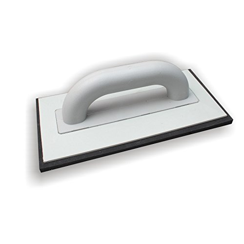DEWEPRO® Fugbrett Ausfugbrett - Zellkautschuk schwarz - Fugscheibe Fugenbrett - 280x140mm - Verfugbrett - Fugscheibe - Fugenbrett