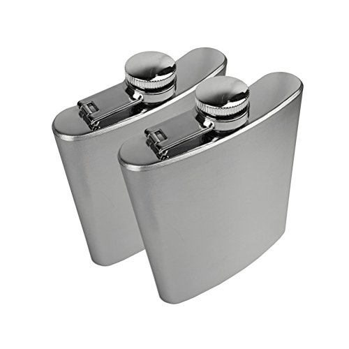 2pcs Stainless Steel Hip Flask 200ml Pocket Hip Flask - 2