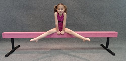 "Gymnast Hut 8ft Balance Beam w/ 12"" Risers (Pink)"