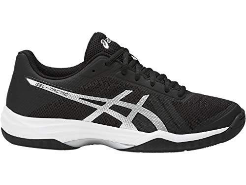ASICS Women's Gel-Tactic 2 Volleyball Shoe, Black/Silver/White, 8 Medium US
