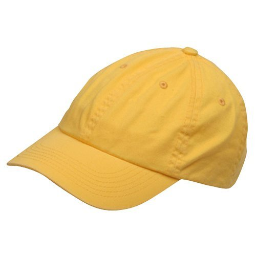 Chino Twill Hat (Youth Washed Chino Twill Cap-Yellow OSFM)
