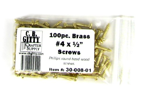 brass screws round head - 1