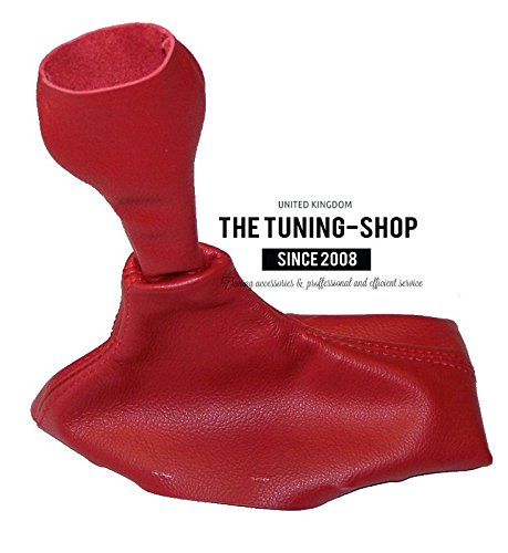 - FOR PORSCHE BOXSTER 986 1996-2004 5 SPEED SHIFT BOOT RED GENUINE LEATHER