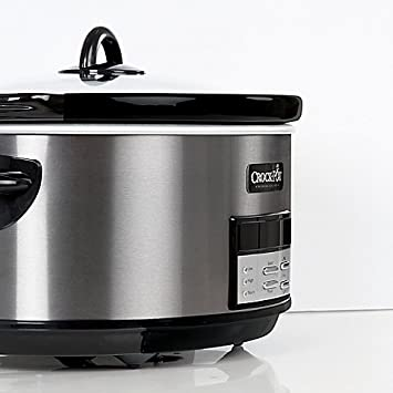 Crock-Pot 8 qt. Programmable Slow Cooker in Black Stainless
