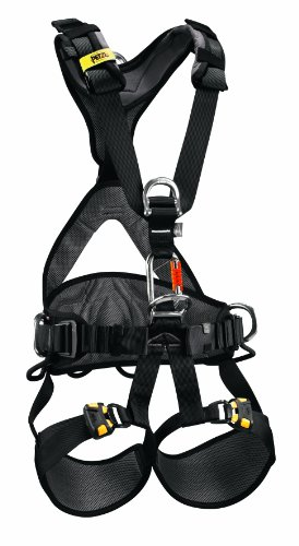 (PETZL - AVAO BOD Fast International Version, Comfortable Harness for Fall Arrest, Size 2, Black/Yellow)