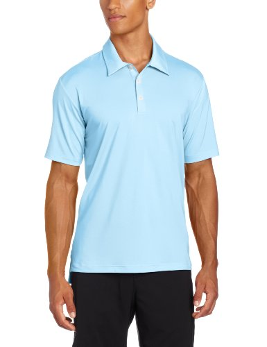 (adidas Golf Men's Climalite Solid Stretch Jersey Polo, Waterfall, Large)