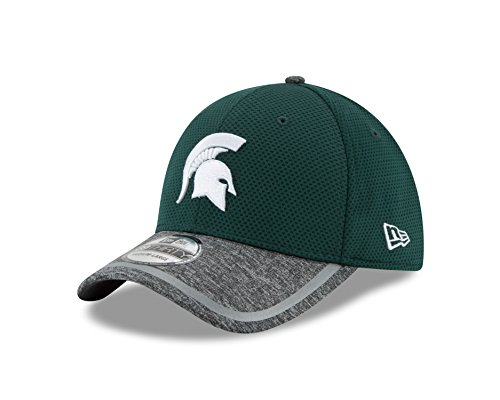 Ncaa New Era - New Era NCAA Michigan State Spartans Adult NE16 Training 39THIRTY Stretch Fit Cap, Large/X-Large, Dark Green