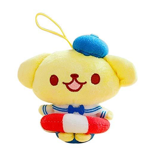 Kuromi Plush Keychain Doll Pendant for Girls Anime Plush Keyring Animal Characters Toys Anime Figure Cosplay Accessories