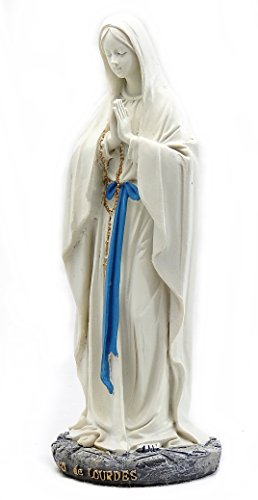 Madonna Sculpture - Catholic Gift 9 Inch Stone Resin Statues Our Lady of Grace Virgin Mary Blessed Mother Madonna Sculptures Home Chapel Decoration