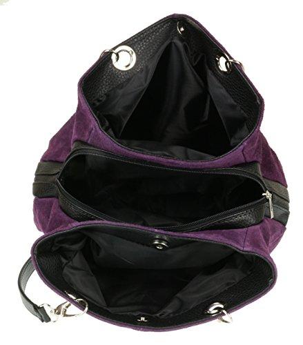 de Mujer Handbags morado Girly Bolso hombro oscuro FZHqESxw