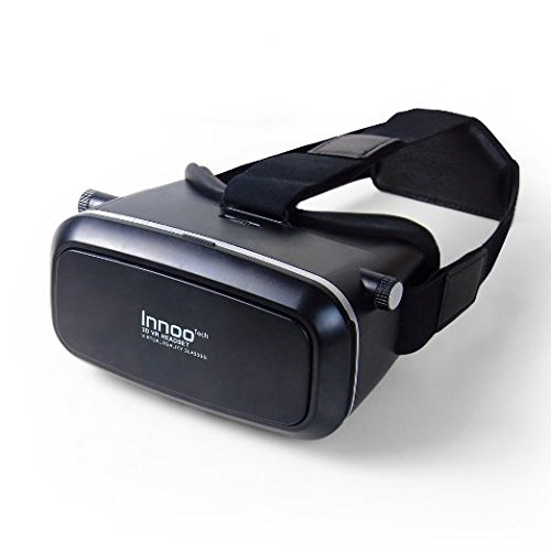 Innoo Tech Virtual Reality Glasses 3D VR Goggles Headset for 3D Movies, Panoramic immersive Videos, 3D Games Compatible with 3.5 - 6 Inch Android IOS Smartphone