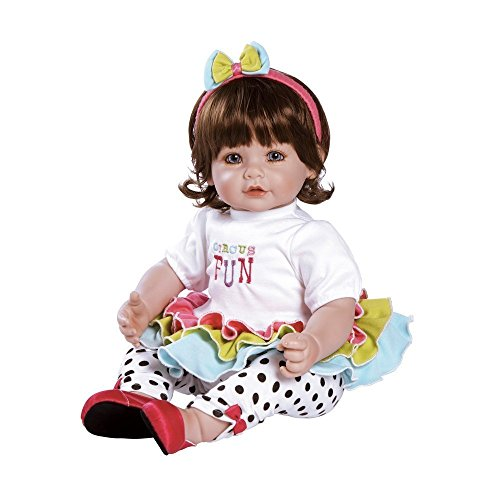 Adora Toddler Circus Fun 20 Girl Weighted Doll Gift Set for Children 6+ Huggable Vinyl Cuddly Snuggle Soft Body Toy