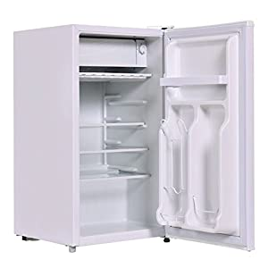 3.2 Cu. Ft. White Compact Single Door Refrigerator Fridge With Small Internal Freezer Cooler Reversible Door Perfect For Dorm Wet Bars Apartment Condo Office Hotel Adjustable Glass Shelf