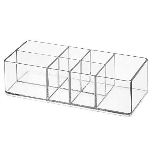 InterDesign Med+ Bathroom Organizer with Divided Compartments – Pack of 2, Clear