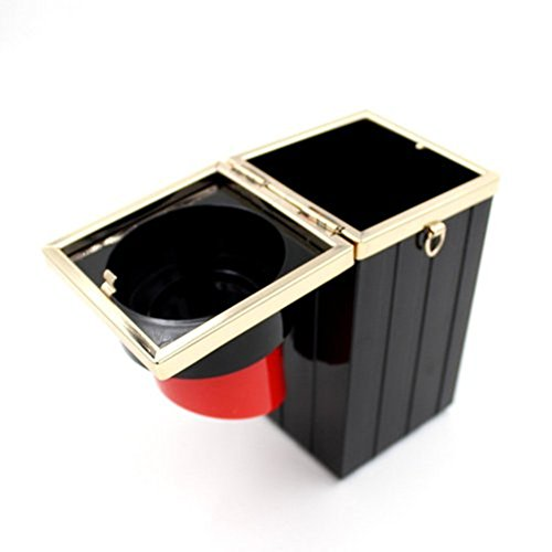 Bags Banquet Lipstick Vintage Handbag Shape Evening Women Acrylic Black Clutch Shiratori Purses WSPzvqYW