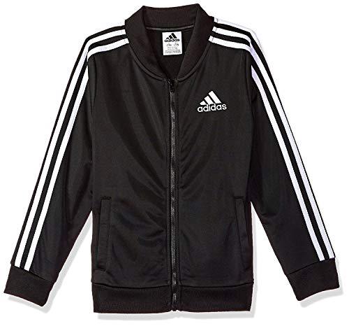 Adidas Girls' Big Tricot Bomber Track Jacket, Black, -