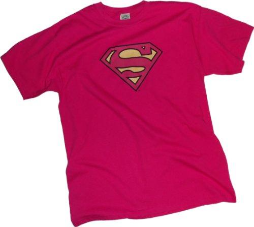 Superman -- Pinky Shield Youth T-Shirt, Youth (Hot Girl In Superman Shirt)