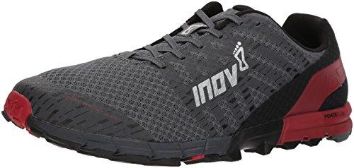 Inov-8 Men's Trailtalon 235 (M) Trail Running Shoe, Grey/red, 9.5 D US (Trail Running Shoes Vs Road Running Shoes)