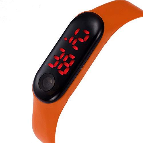 Dylung Reloj Hodómetro para Mujer Unisex Deportivo Inteligente Digital Simple de Moda Relojes de Silicona Reloj de Pulsera Contador de Pasos Cálculo de ...