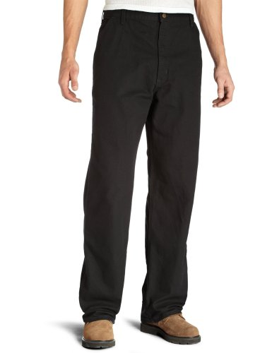 Carhartt Men's Washed Duck Work Dungaree Utility Pant B11,Black,35 x 34