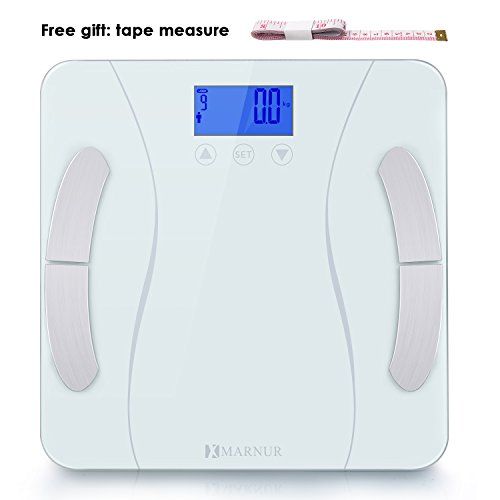 MARNUR Digital Body Fat Scale with BIA Technology High-precision Sensors and Tape Measure for Body Composition Analysis and Healthy Life