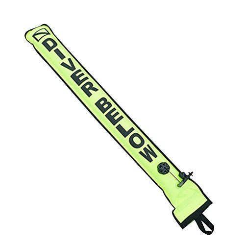 (EDTara Nylon Diver Surface Marker Buoy Sausage Singal Tube Diving Accessory)