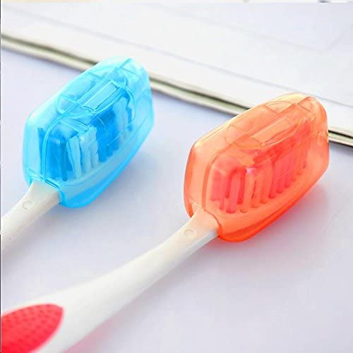 10X portable antibacterial toothbrush dust tourism camping brush protective cap