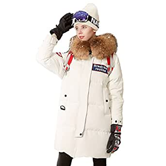 Amazon.com: BOSIDNEG Women's Winter Goose Down Jacket Long