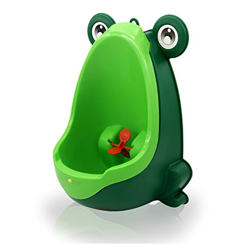 (Sundee Boy's Baby Urinal - Cute Frog Standing Potty Training Urinal for Pee Trainer with Funny Aiming Target - Blackish Green)