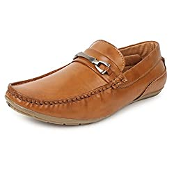 Adreno Men's Synthetic Frost Formal Shoes 6 UK Tan