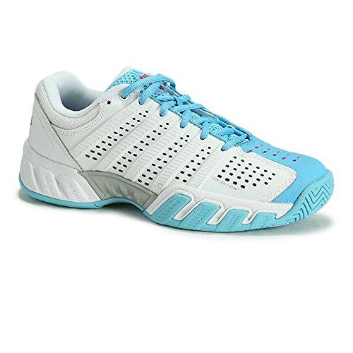 K-SWISS Juniors` Bigshot Light 2.5 Tennis Shoes White and Bachelor Button - (83338-198S16)