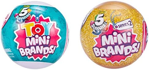 Toy Mini Brands and Series 2 Mini Brands Collectible Capsule Bundle