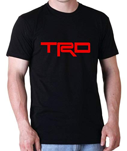 (Uzair TRD Sports Car Racing Hoodie/Sweatshirt/T-Shirt (Black T-Shirt, X-Large))