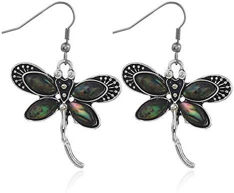 S-TING ピアス レディース 冬の人気の豹柄のイヤリングイヤリングファッション蝶シェルイヤリング 誕生日 プレゼント
