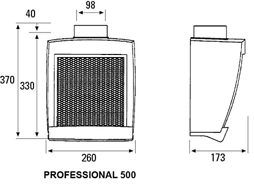 Cata Professional 500 Extractor centrífugo de Cocina, 125 W, 230 V, Blanco y Gris: Amazon.es: Bricolaje y herramientas