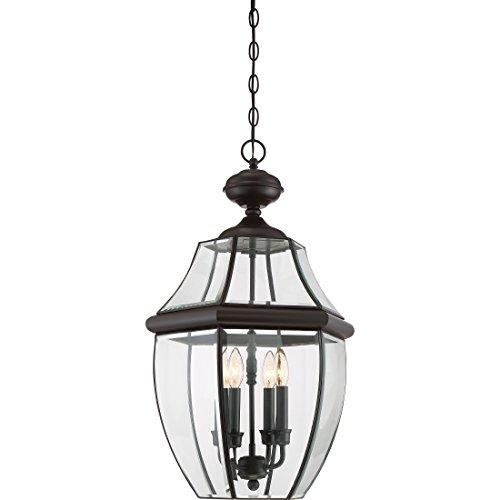 Quoizel NY1180Z 4-Light Newbury Outdoor Lantern in Medici Bronze - 4 Light Exterior Hanging Lantern