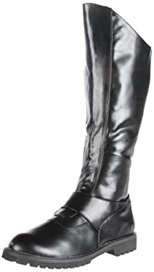 Funtasma by Pleaser Men's Halloween Gotham-100 Boot,Black Polyurethane,S (US Men's 8-9 M)