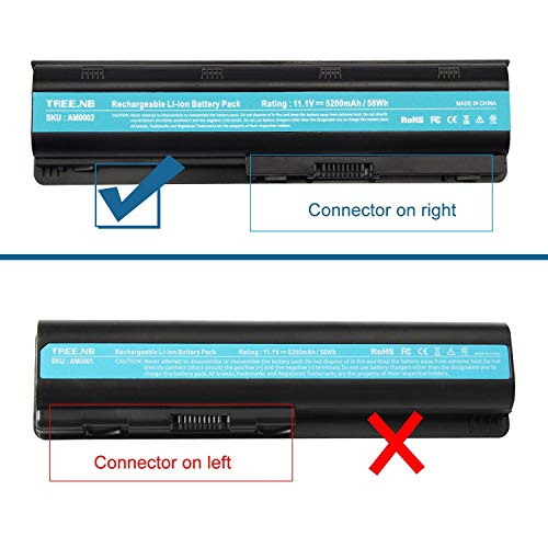 Replacement Battery for HP Spare 593553-001, HP Compaq