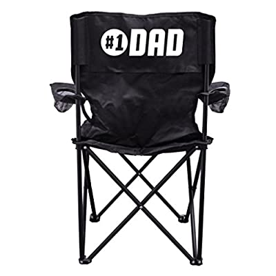 #1 Dad - Father's Day Gift - Camping Chair with Carry Bag